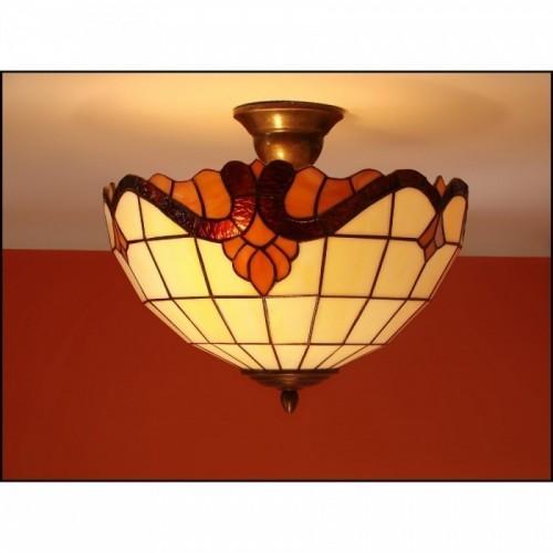 Vitrážový stropní lustr Baroko 2 Ø30, Ø40