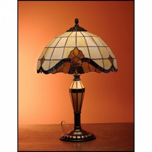 Vitrážová stolní lampa Barok 2 -30 SV