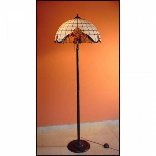 Vitrážová stojanová lampa Baroko 50, Ø50
