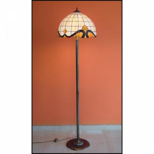 Vitrážová stojanová lampa Baroko 2 - 40, Ø40