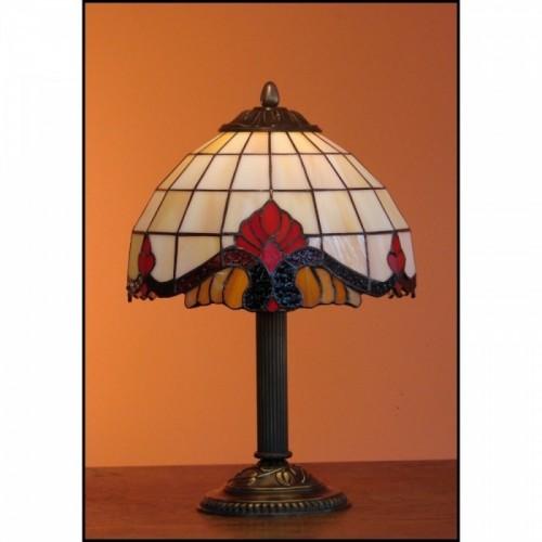 Vitrážová stolní lampa Baroko 23s