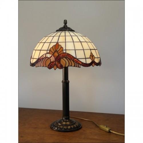 Vitrážová stolní lampa Barok -S 30