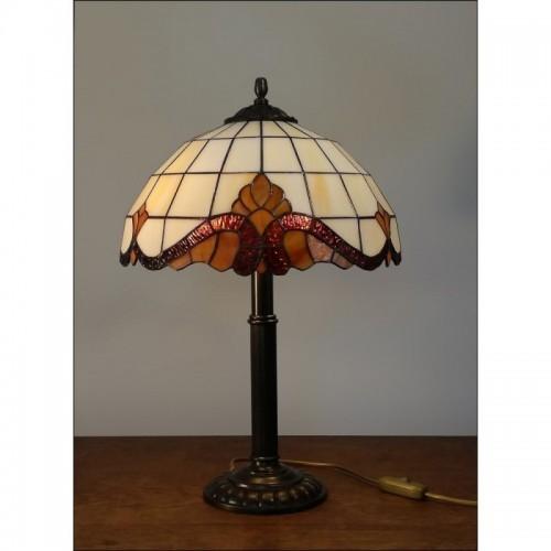 Vitrážová stolní lampa Barok 2-S 30