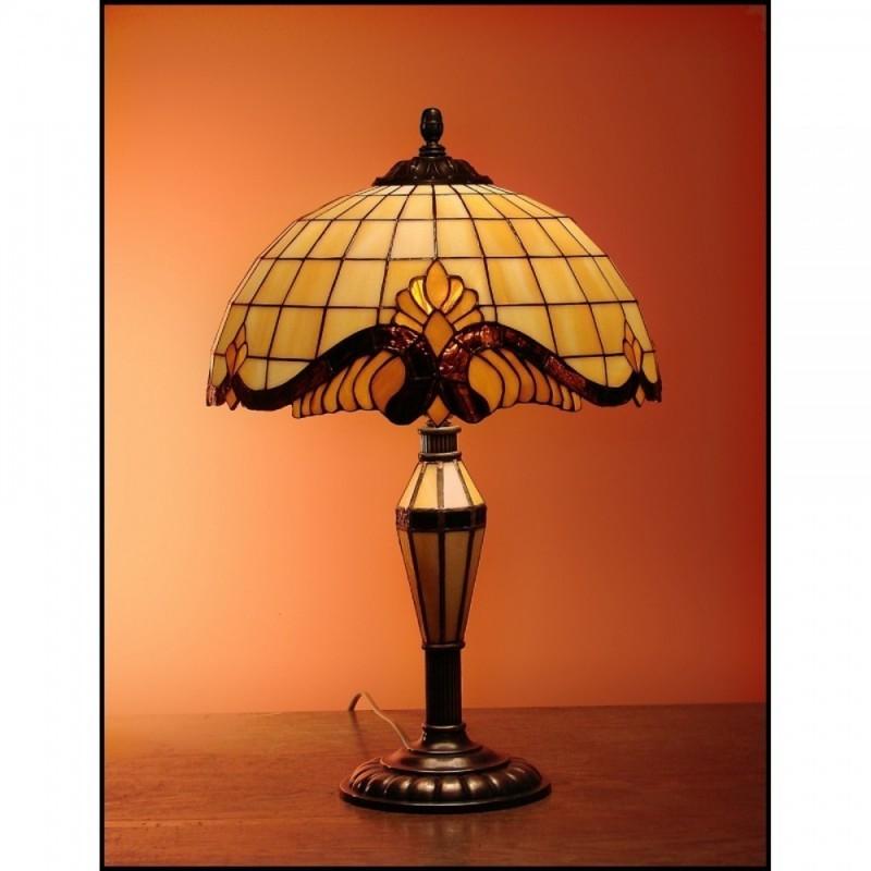Vitrážová stolní lampa Baroko -30 SV