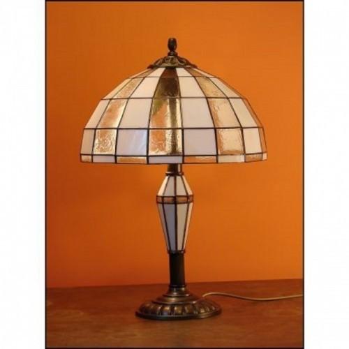 Vitrážová stolní lampa Modern plus vitrážová noha
