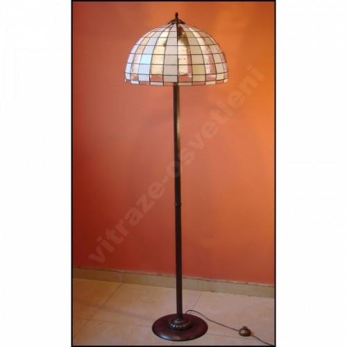 Vitrážová stojanová lampa Moden 50