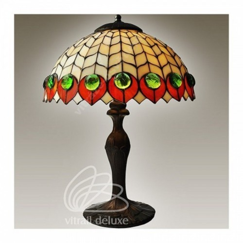 Vitrážová stolní lampa G12990 Occhio Di Pavone Ø30 (Kando)