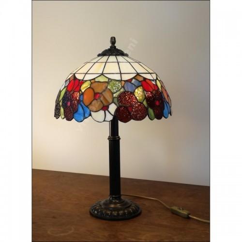 Vitrážová stolní lampa Bratki- Azur 30-S2 Ø30