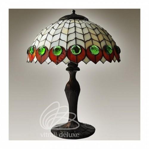 Vitrážová stolní lampa G12990 Occhio Di Pavone Ø40 (Kando)