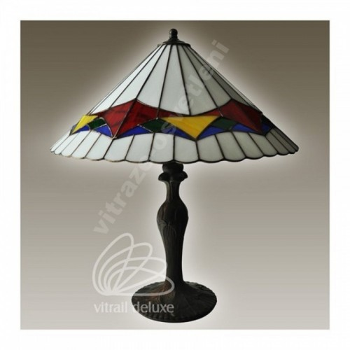 Vitrážová stolní lampa G12565 Padua Ø30 (Kando)