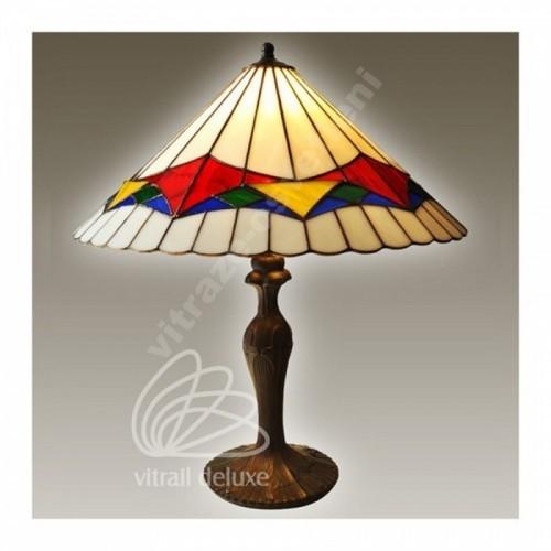 Vitrážová stolní lampa G12565 Padua Ø40 (Kando)