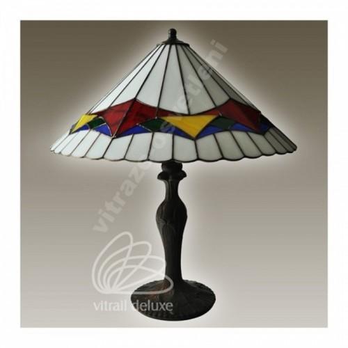 Vitrážová stolní lampa mosazná G12565 Padua Ø50 (Kando)