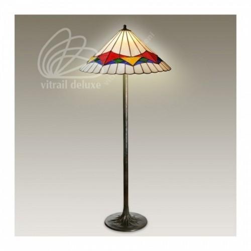 Vitrážová stojanová lampa F12565 Padua Ø50 (Kando)