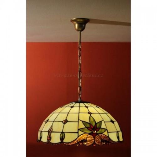 Tiffany lustr ZM 41, E27/60W (vitraze-osvětlení)