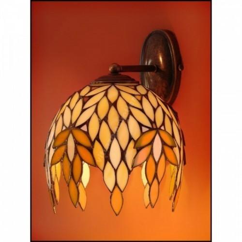 Vitrážové nástěnné svítidlo Kokos 22