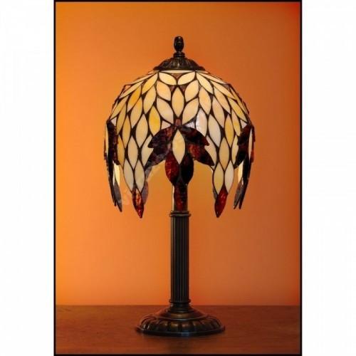 Vitrážová stolní lampa Kokos 22