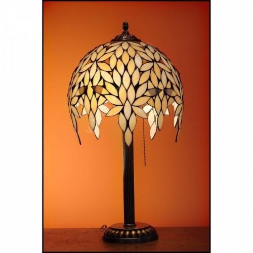 Vitrážová stolní lampa Palma 30