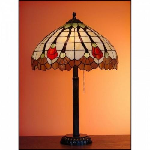 Vitrážová stolní lampa Flor 40, Ø40 - 60 cm