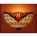Vitrážové nástěnné svítidlo Baroko Káry- N 30