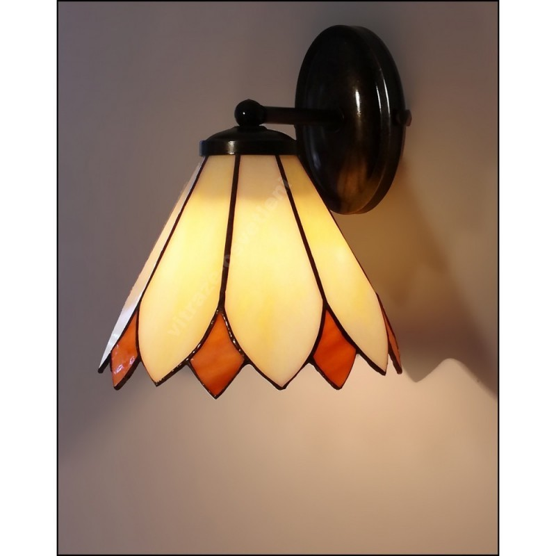 Nástěnná vitrážová lampa Kira 20