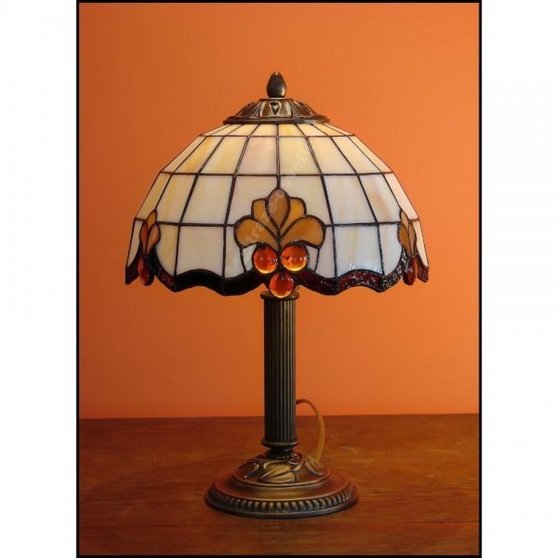 Vitrážová stolní lampa Royal 23