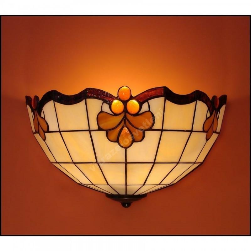 Nástěnné vitrážové svítidlo Royal 30