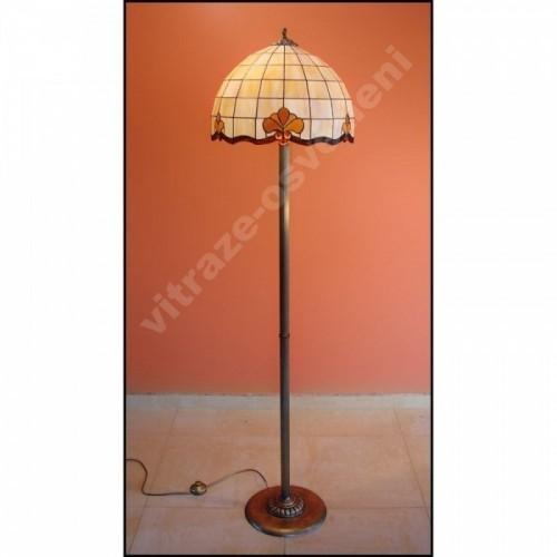 Vitrážová stojanová lampa Retro - 40, Ø40