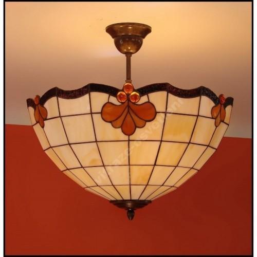 Vitrážový stropní lustr Royal 40, Ø40