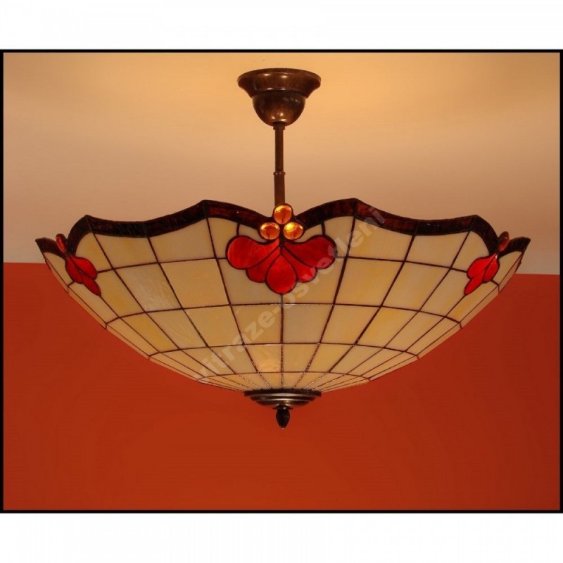 Vitrážový stropní lustr Royal 54, Ø54