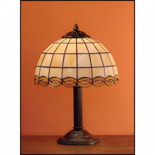 Vitrážová stolní lampa Zmijka 23