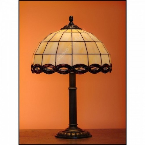 Stolní lampa Tiffany Falko 30, Ø30 cm, 48 cm