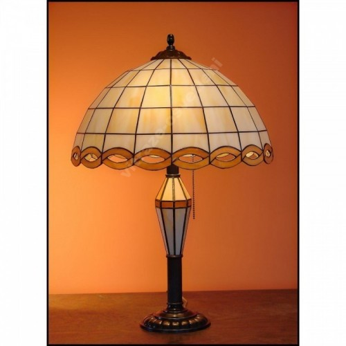 Vitrážová stolní lampa Falko 40 SV, Ø40 cm, 60 cm