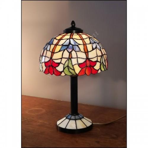 Vitrážová stolní lampa Lotos 23