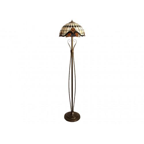 Tiffany stojací lampa NB Ø41, 2xE27/60W (vitraze-osvetleni)