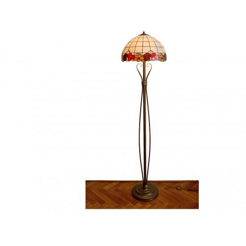 Vitrážová stojací lampa Sasanka Ø40 (vitraze-osvetleni)
