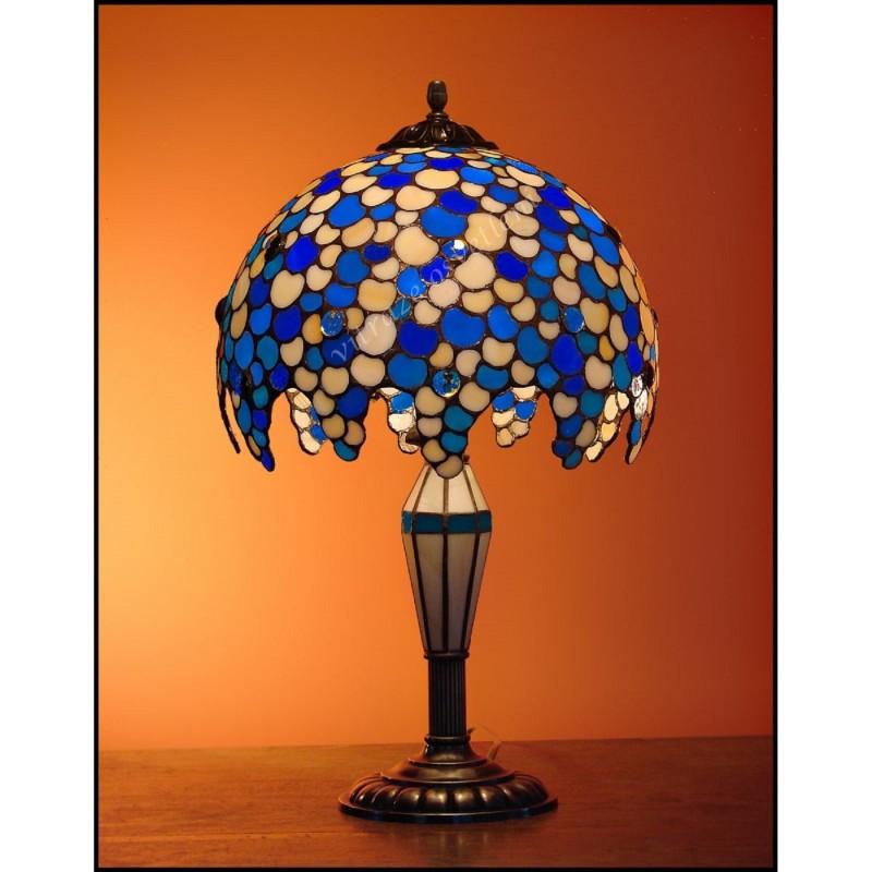 Vitrážová stolní lampa Leška SV 30, Ø30