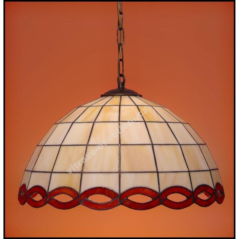 Vitrážový lustr Zmijka 40, Ø40 cm