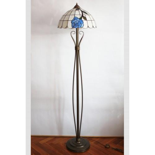 Tiffany stojací lampa LMR40, Ø40 cm (vitraze-osvetleni)