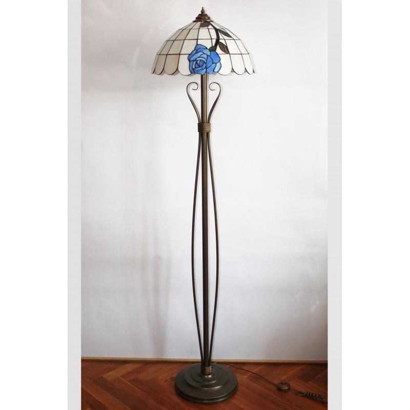 Tiffany stojací lampa LMR40, Ø40 cm