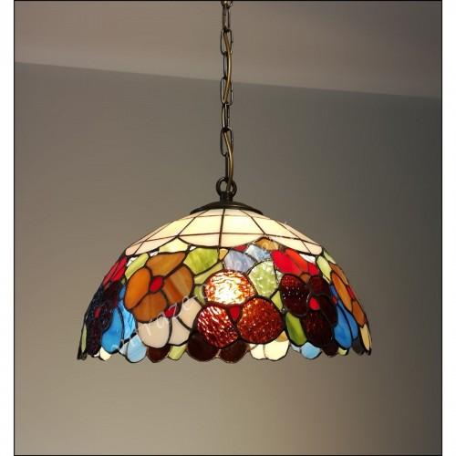 Vitrážový lustr Bratki Azur 30-Ø30