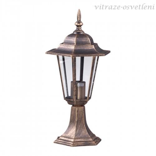 Zahradní lampa 15009SS, v.44 cm, 1xE27/60W
