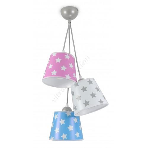 Lustr dětský závěsný LED LUXHX3