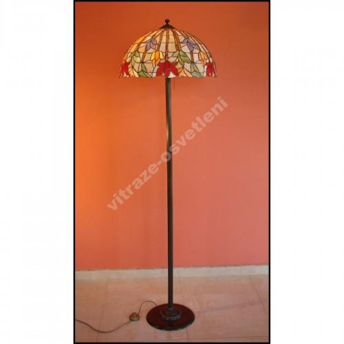Vitrážová stojací lampa Lotos 50