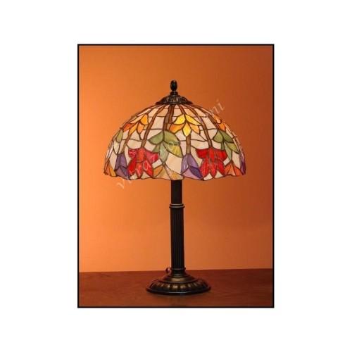 Vitrážová stolní lampa Lotos 30