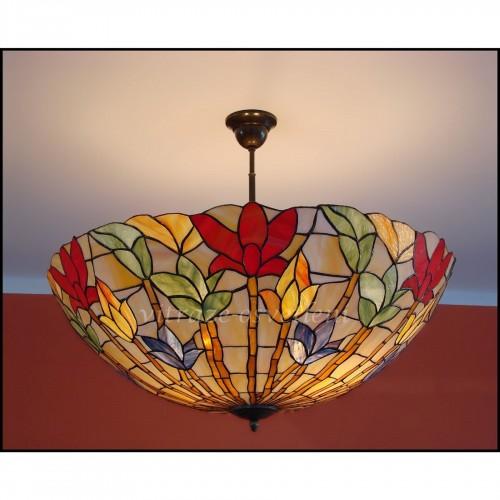 Tiffany stropní lustr Lotos 70