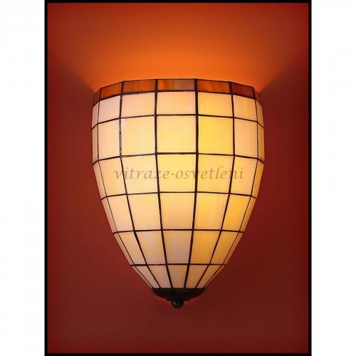 Tiffany nástěnná lampa Kiska 20N