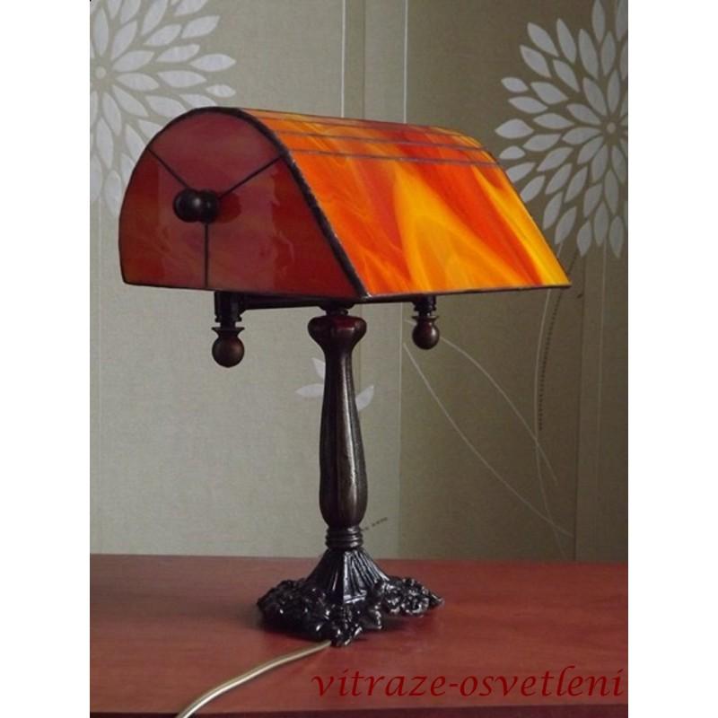 Tiffany bankéřská stolní lampa PSO 22