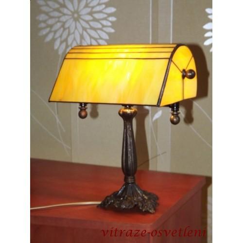Tiffany bankéřská stolní lampa PSBZL 22