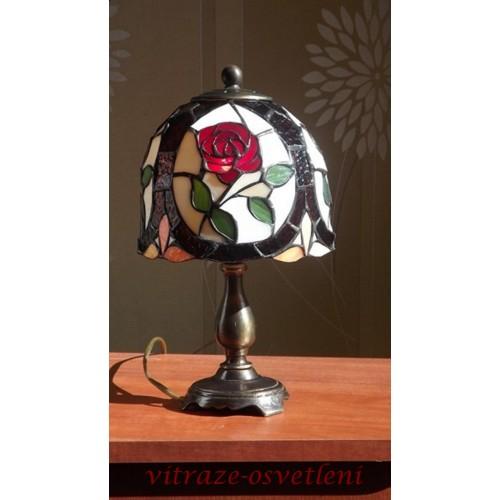 Tiffany stolní lampa Růžička PSR 16