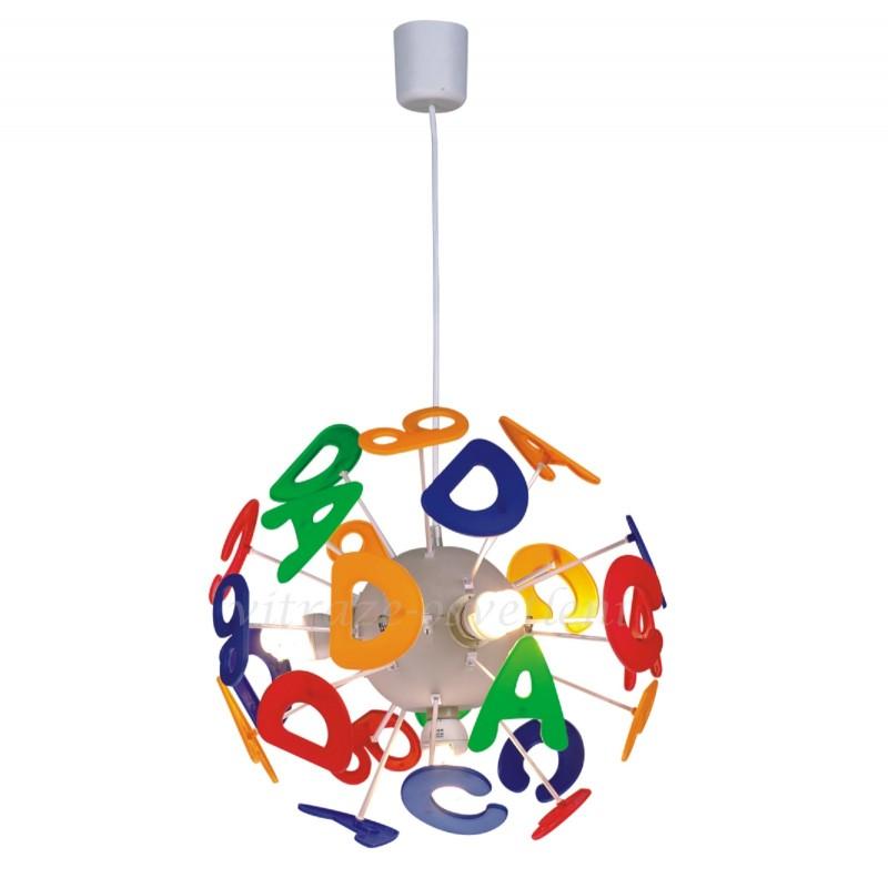 Dětský závěsný lustr ABC MD-K7085-4E